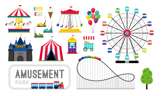 Amusement park elements