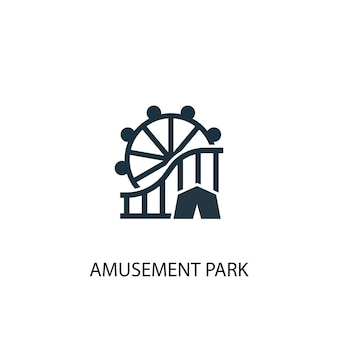 Значок парка развлечений. простая иллюстрация элемента. дизайн символа концепции парка развлечений. может использоваться в интернете и на мобильных устройствах.