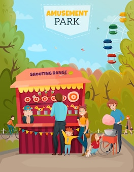 Amusement park illustration