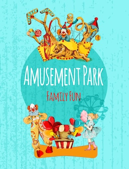 Amusement park poster