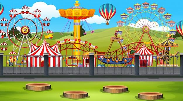 Amusement park scene