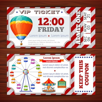 Amusement park tickets