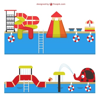 Amusement waterpark vector