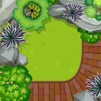 庭のアンテナ