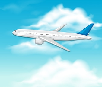 An Airplane on Sky