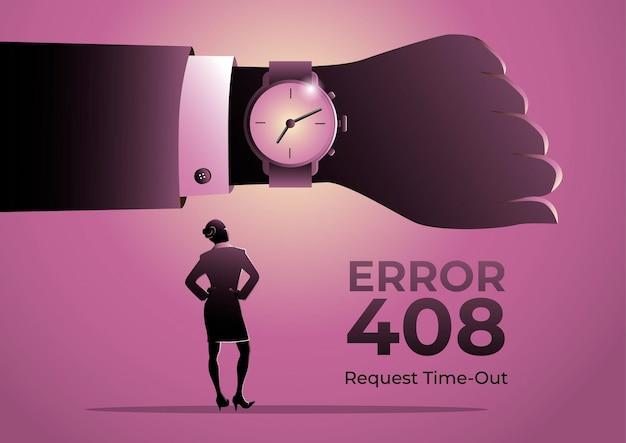408페이지의 삽화 사업가 시계를 보고 있는 사업가의 오류