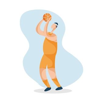 バスケットボール選手のキャラクターのイラスト