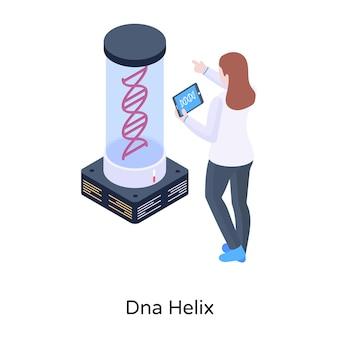 아이소메트릭 디자인의 dna 테스트 그림