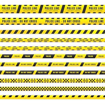 精神的なテーマの警察テープのイラスト。