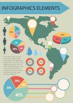 地図とインフォグラフィック