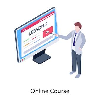 Онлайн-курс изометрии премиум векторы скачать