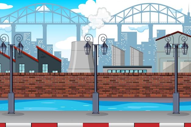 Городская фабричная сцена