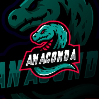 Анаконда талисман логотип киберспорт игры