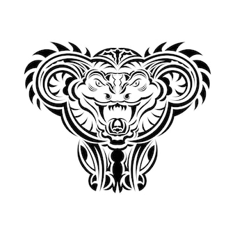 タトゥー、ロゴ、ラベル、サイン、ポスター、tシャツのアナコンダヘビベクトルイラストアート。