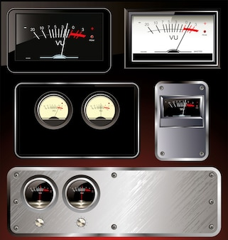 Analog vu meter - abstract background set