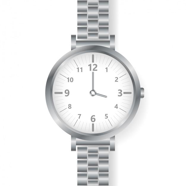 Analog watch mens wristwatch on white