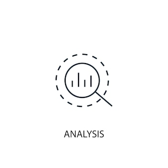 Analysis concept line icon. simple element illustration. analysis concept outline symbol design. can be used for web and mobile ui/ux