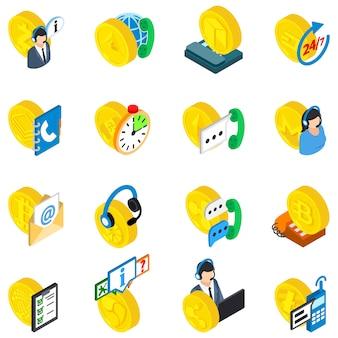 Analysis cryptocurrency icon set
