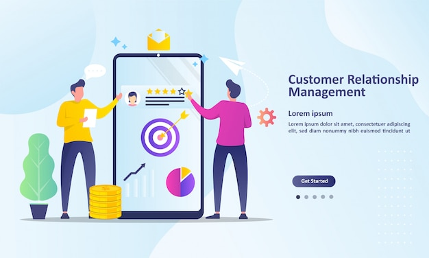 Analysis customer service landing page template