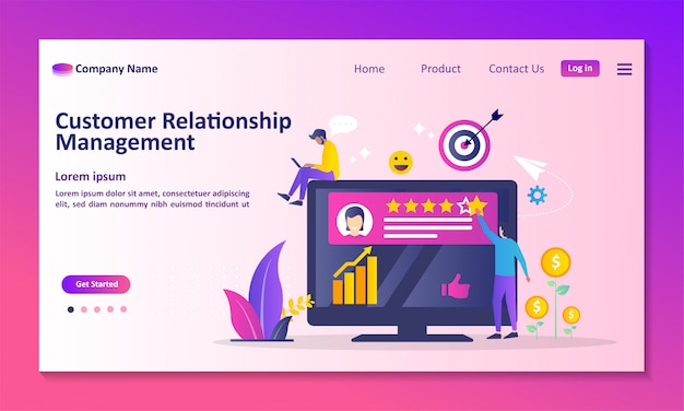 Analysis customer service landing page