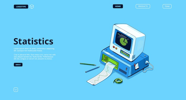 Analysis and research information landing page
