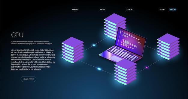 분석 동향 및 소프트웨어 개발 코딩 프로세스 개념. 프로그래밍, 크로스 플랫폼 코드 테스트 서버 룸 데이터 센터. 백업, 마이닝, 호스팅, 메인프레임, 팜.