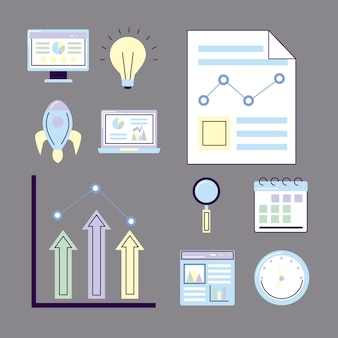 Analytics icon collection