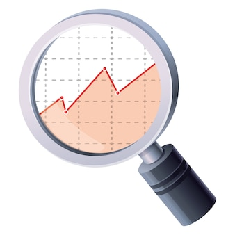 Analytics magnifying glass