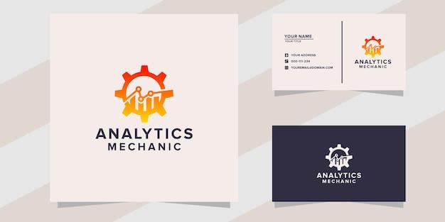 Analytics mechanic logo template