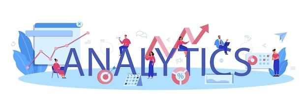 Типографский заголовок google analytics