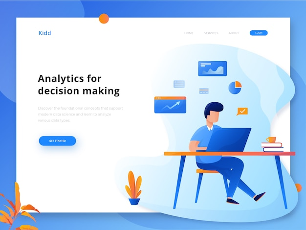 Веб-заголовок analytics
