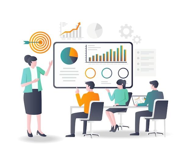 Анализируйте данные компании и определяйте цели