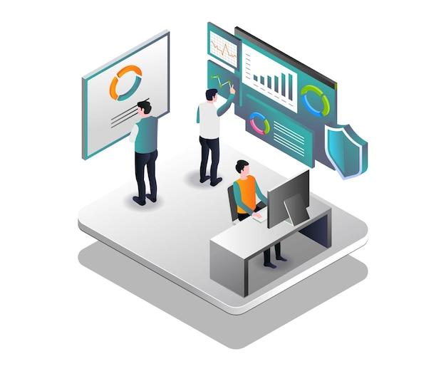 会社のデータセキュリティの分析