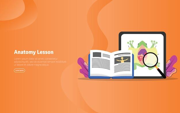 Anatomy lesson concept scientific illustration banner