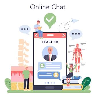 Anatomy online service or platform illustration
