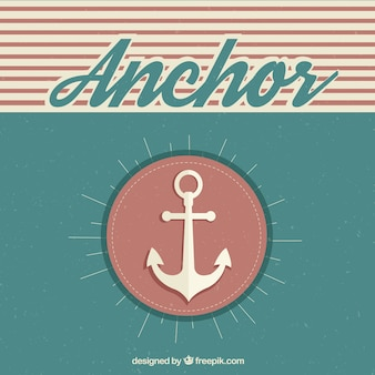 Anchor background in retro style