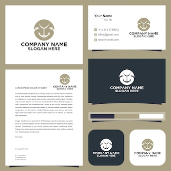 Anchor and business card