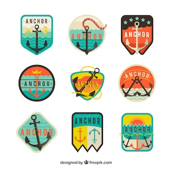 Anchor label collection of nine