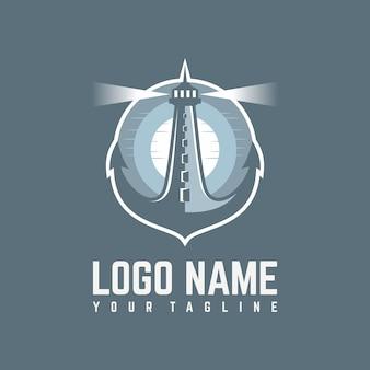 Anchor lighthouse logo