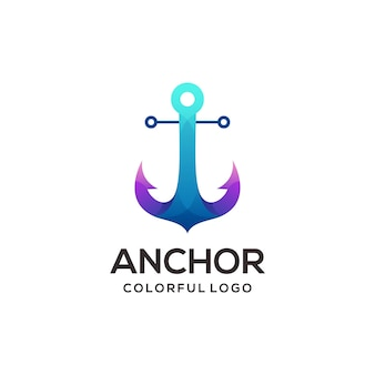 Anchor logo colorful gradient