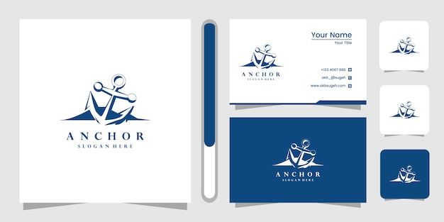 Anchor logo design template