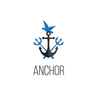 Anchor logo graphic design concept. editable anchor element, can be used as logotype, icon, template in web and print
