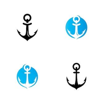 Anchor logo and symbol icon vector template