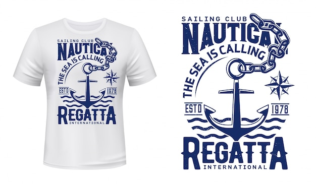 Anchor  print  of yacht club regatta