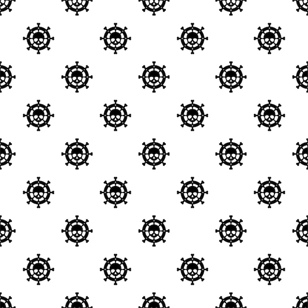 Anchor seamless pattern skull crossbone halloween