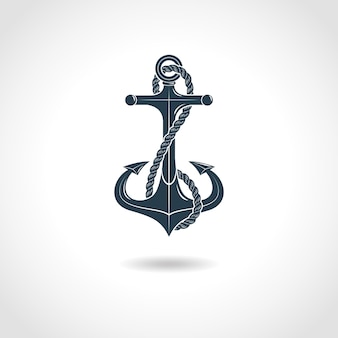 Anchor silhouette isolated object