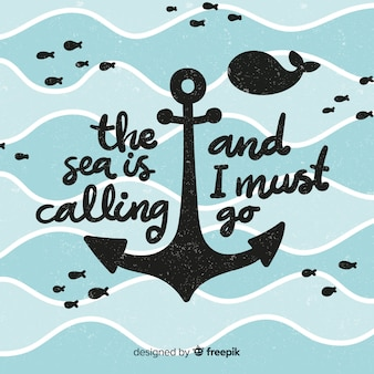 Anchor silhouette nautical background