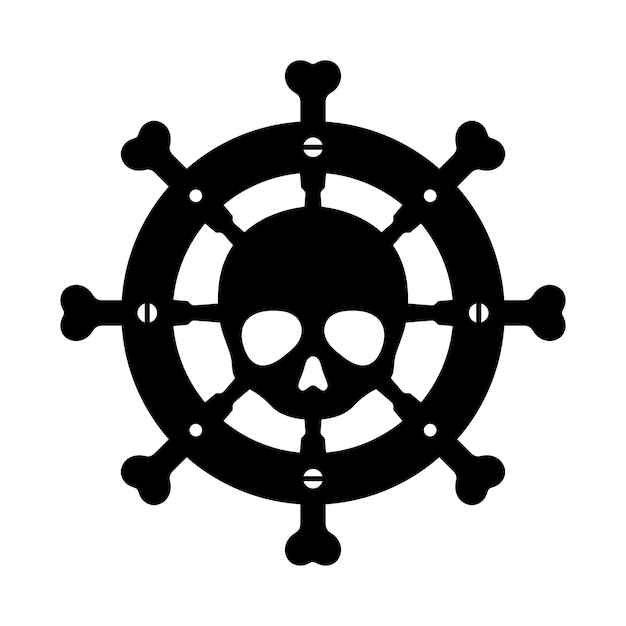 Anchor skull crossbones halloween