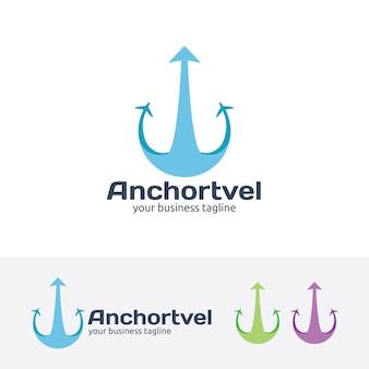 Anchor travel logo template