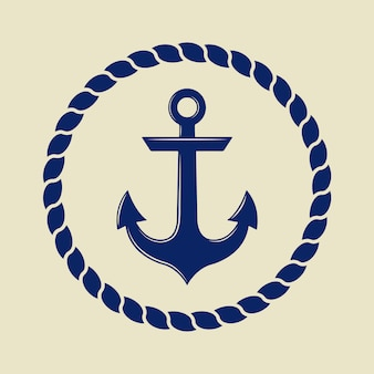 Anchor in vintage style.